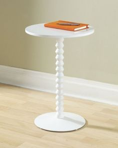 "Archer Table (White) (22.00""H x 15.25""W x 15.25""D) by Tag. $125.00. Painted white. Base is weighted with metal plate for additional stability. Size: 22.00""H x 15.25""W x 15.25""D. Solid wood support. Color: White. Complete your living style with the elegant Archer Table. This contemporary end table features a refined painted finish and a sturdy construction. A modern side table. Base is stabilized with a metal plate. Easy assembly. Support is made of solid wood; top an..."