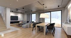 Dom jednorodzinny / Tarnowskie Góry - Średnia otwarta jadalnia w salonie - zdjęcie od A2 STUDIO pracownia architektury