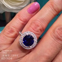 In love with this @tiffanyandco #sapphire #engagementring - 3.3 carats, £24,400 #wedding #bridal #tiffanyandco See more at www.thejewelleryeditor.com