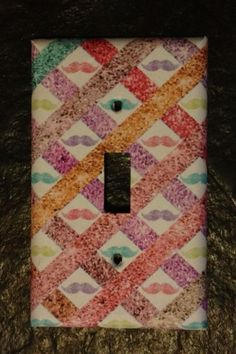 Great Gift Multi-Colored Mustache Light Switch Cover 4 Mothers Day Gift