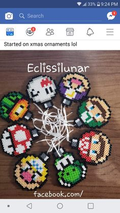 15 Best Fun Perler Beads Designs Easy To Get Started Perler Bead Templates, Diy Perler Beads, Pearler Beads, Fuse Beads, Melty Bead Patterns, Pearler Bead Patterns, Beading Patterns, Perler Bead Mario, Christmas Perler Beads