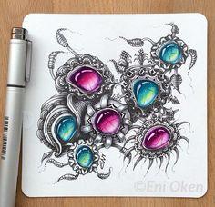 Eni Oken beautiful zengems Zentangle gems gemstones