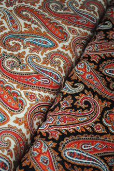 Paisley Authentic designs and priceless beauty! Motif Paisley, Paisley Art, Paisley Fabric, Paisley Design, Paisley Pattern, Fabric Art, Linen Fabric, Textile Design, Fabric Design