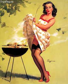 I love this retro Pinup Girl by Gil Elvgren!