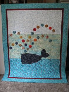 Quilt made for the boy by his talented grandmother