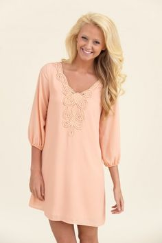 Another Unbelievably Beautiful Tunic-Peach