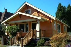 dream house by the lulu bird http://flic.kr/p/ArWHE little orange bungalow, you are the apple of my eye… from vintage-property.com