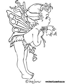 Fairy Coloring Pages for Kids. 20 Fairy Coloring Pages for Kids. Coloring Pages Free Printable Fairy Coloring for Kids Fairy Coloring Pages, Coloring Pages To Print, Free Printable Coloring Pages, Coloring For Kids, Coloring Pages For Kids, Coloring Sheets, Coloring Books, Colouring, Cute Fairy