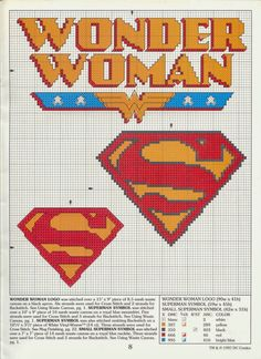 logo: Superman, Wonder Woman