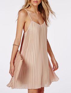 vestido tirantes plisada-crudo 14.16