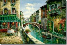 I bought this Italian Cafe Canal Ceramic Tile Mural Backsplash & it is GORGEOUS !!!!