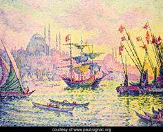 Long way from Paris?: View of Constantinople, 1907 - Paul Signac - www.paul-signac.org