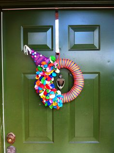 Cute birthday wreath! I like the party hat on this one :-D