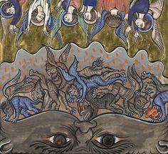 "discardingimages: "" the fall of the rebel angels Psalter of Saint Louis and Blanche of Castile, France ca. Paris, Bibliothèque de l'Arsenal, Ms fol."