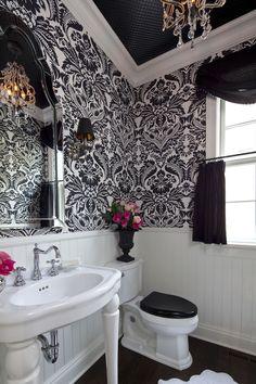Powder Room by Martha O'Hara Interiors