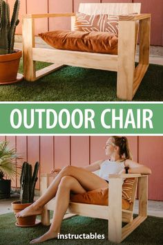DIY Outdoor Chair - history responses for finding root aspects in Modern Popular Woodworking Projects - Modern Outdoor Chairs, Outdoor Furniture Plans, Diy Furniture Couch, Woodworking Furniture Plans, Diy Furniture Plans Wood Projects, Easy Woodworking Projects, Popular Woodworking, Diy Chair, Furniture Ideas