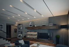 modern apartment in living room area