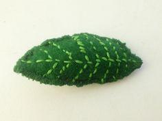 Felt Green Leaf Brooch Free Shipping by TexasGirlsBoutique on Etsy, $2.99