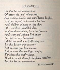 james baldwin poetry | Winter 1941, Vol XXV, No. 1, p. 28.