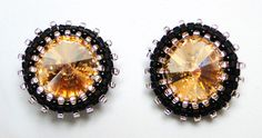 #yellowearings #Kesem #fantasy #bridemades #thewedding #byDianaBalen Yellow Earrings, Stud Earrings, Fantasy, Jewelry, Crystals, Jewels, Jewlery, Bijoux, Studs