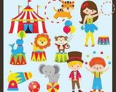 Circus ClipArt / Circus Clip Art / Carnival Clip Art / Carnival Clipart / Monkey Clip Art / Circus Birthday Clip Art / Clown Clipart