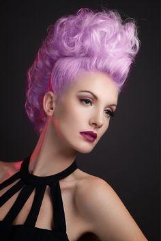 How to: Purple Hair Pantone Radiant Orchid - Lilac Hair Recipe using Pravana Lilac Hair, Hair Color Purple, Color Your Hair, Hair Colours, Lavender Color, Lavender Hair, Vivid Colors, Love Hair, Big Hair