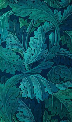 Mirella Bee Cross Pollinating Pattern Visionist and Designer — thecolorcommunity: William Morris: 1873 Acanthus. Textures Patterns, Print Patterns, Leaf Patterns, Pattern Designs, Pattern Ideas, Pattern Print, Motif Art Deco, Motifs Textiles, Photocollage