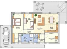 Bungalows Vespero www. Bungalows, Craftsman Floor Plans, One Bed, Tiny House, House Plans, Layout, Flooring, How To Plan, Mansions