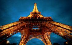 la tour eiffel travel wallpaper wide