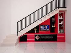 Tv Cabinet Under The Staircase Stairs Design Pinterest