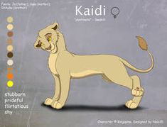 Kaidi - Character Design for Rinjapine by Lion King Names, The Lion King 1994, Anime Furry, Disney Nerd, Animal Drawings, Manga, Character Design, Art Things, Wild Animals