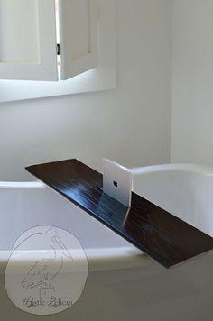 Wood Bathtub Caddy - Rustic Bathtub Tray - Tablets - iPad - Apple - Modern Bathtub Caddy - Bathtub Tray -Home Decor - Bathroom Decor -Spa - Wood Bathtub, Jacuzzi Bathtub, Bathtub Tray, Bathtub Caddy, Modern Bathtub, Rustic Bathtubs, Stainless Backsplash, Bathtub Remodel, Bathtub