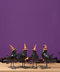 Take a look at this Black Crow Figurine Set by Transpac Imports on #zulily today!