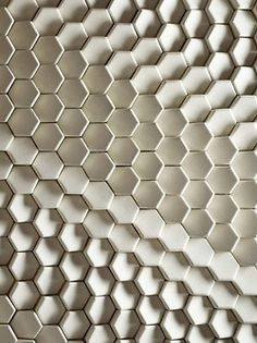 interior design: hexagon, honeycomb wall texture, white tiles