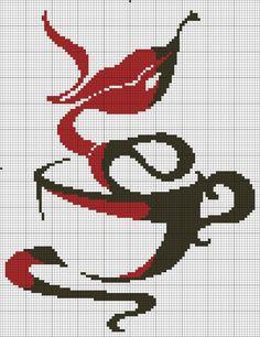Para os amantes de café, parte 2 - Esquemas de Ponto de Cruz