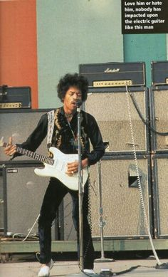 September 14th 1968 , Jimi Hendrix Hollywood Bowl soundcheck