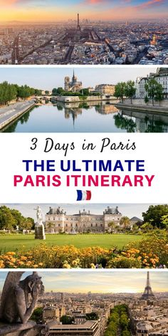 Looking for the best Paris Itinerary Our guide shows you how to spend 3 Days in Paris and gives you a detailed itinerary covering all of the highlights so you can make th. Paris Travel Guide, London Travel, Places To Travel, Travel Destinations, Places To Visit, European Vacation, European Travel, Vacation Trips, Vacation Spots