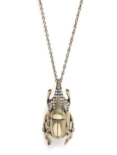 I have a thing for beetle & bug jewelry $32
