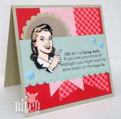 Riley and Company Stamps, FunnyBones and Retro Folks! http://sandcastlestamper.blogspot.com/