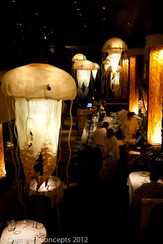 Farallon Restaurant in San Francisco    Doesn't everyone need jellyfish chandeliers?