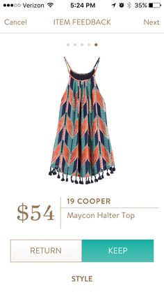 19 Cooper Maycon Halter Top I love Stitch Fix! Personalized styling service and it's amazing!! Fill out a style profile with sizing and preferences. Then your very own stylist selects 5 pieces to send to you to try out at home. Keep what you love and return what you don't. Try it out using the link! #stitchfix https://www.stitchfix.com/referral/5634870