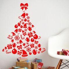 Vánoční dekorace na zeď - Vánoční stromeček II