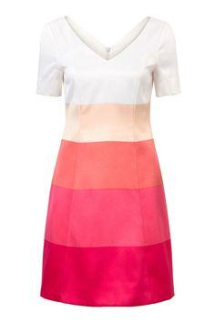 Colorblock jurk Fuchsia
