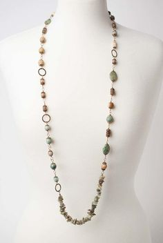 Magnetic Hematite Tube Bead Necklace with Deep Gold Leaf Embossed Accents and Gold Metal Beads