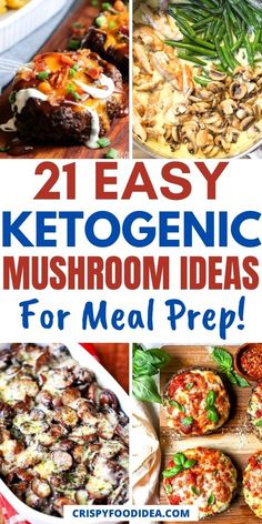 Ketogenic Diet For Beginners, Ketogenic Recipes, Low Carb Recipes, Keto Mushrooms, Stuffed Mushrooms, Ketogenic Breakfast, Mushroom Recipes, Keto Dinner, Vegetable Dishes