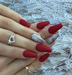Long Red Coffin Nails By Sarahp898 Tap The Link Now To Find The