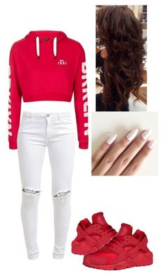 """Untitled #21"" by fariha2003 ❤ liked on Polyvore featuring Topshop, FiveUnits and NIKE"