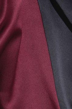 Michael Lo Sordo - Two-tone Silk-satin Shirt - Merlot - UK10