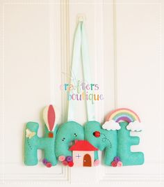 Crafters Boutique: Home Sweet Home Felt Banner