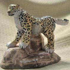 Great Papercraft Snow Leopard Tektonten Papercraft